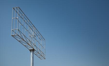 Iron structure of billboard or uni-pole under blue sky Stock Photo - 19438749
