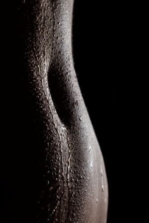 Gorgeous female silhouette of wet navel of indian female Stock Photo - 21377507
