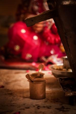 bride bangle: Ritual during a hindu marriage in india