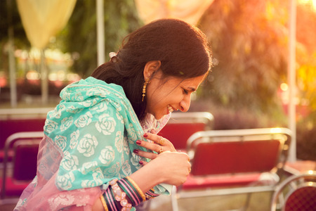 happy moment: Happy moment of indian women Stock Photo