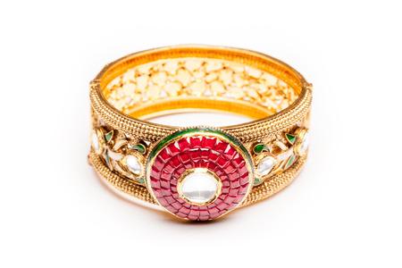 armlet: Close up of golden bracelet