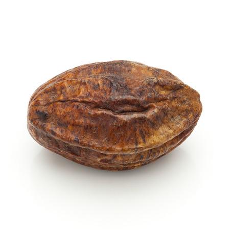 Macro closeup of a Organic Inknut or Harr Terminalia chebula isolated on white background. Stok Fotoğraf - 47914791