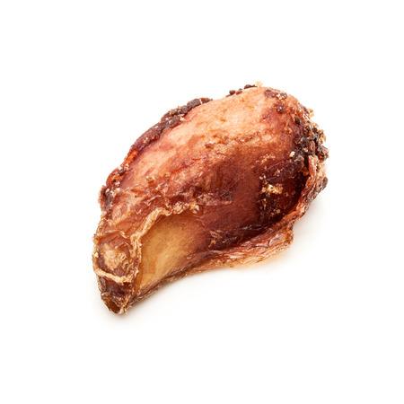 punica granatum: Macro closeup of a Organic Dried Pomegranate seed Punica granatum isolated on white background.