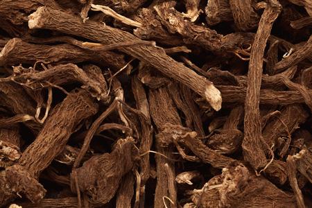 calamus: Macro closeup background texture of Organic Calamus (Acorus calamus) root. Stock Photo