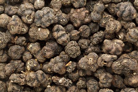 great morinda: Organic Dried Cheese Fruit or Noni (Morinda citrifolia) seeds. Macro closeup background texture. Top View.