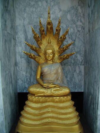 Buddha statue in bangplee Samut Prakan Thailand photo
