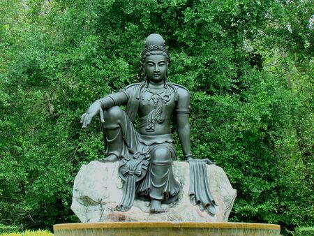 bodhisattva:   Bodhisattva in Wax Museum Siam Ratchaburi Thailand                              Stock Photo