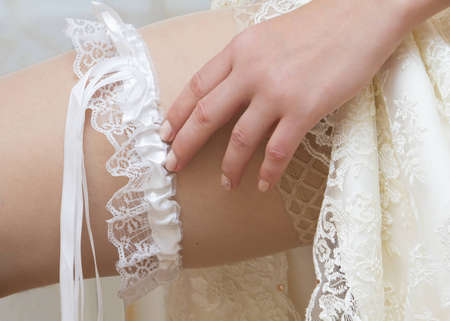 Bride shows us what Stock Photo - 11810200