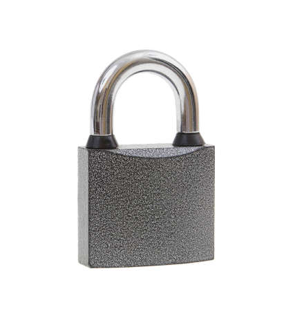 The metal lock isolated on white background photo
