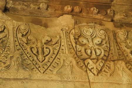 Carvings of the Phimai Sanctuary  Nakhon Ratchasima, Thailand photo