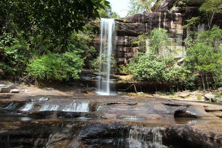 soi: Soi Sawan Waterfall is very beautiful  In Ubon Ratchathani province  Northeast of Thailand
