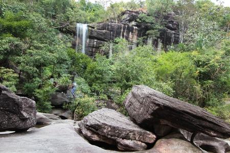 Soi Sawan Waterfall is very beautiful  In Ubon Ratchathani province  Northeast of Thailand photo