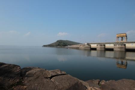 three gorges: Ubonrat views of the dam  In the  Khon khaen province  Northeast of Thailand