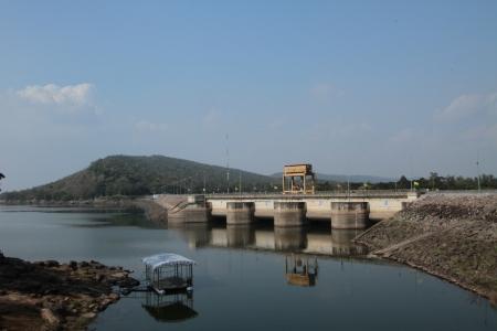 gorges: Ubonrat  views of the dam  In the  Khon khaen province  Northeast of Thailand