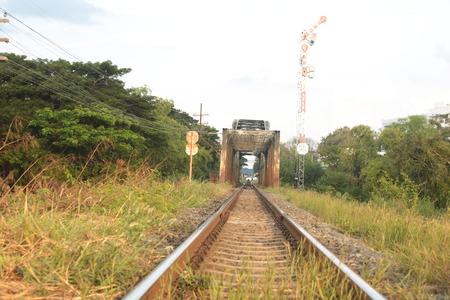 Old railway bridge in Si Sa Ket, Thailand