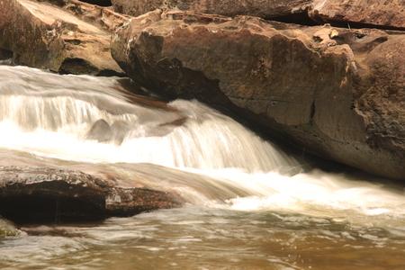 Long exposure of a backyard waterfall.Phu(MOUNTAIN)- la-O (beautiful) waterfall Imagens