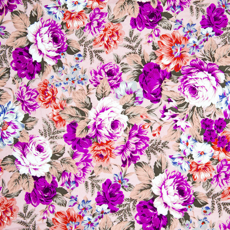 tapestry: vintage style of tapestry flowers fabric pattern background Stock Photo