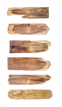 sign plate: Old Wood plank, isolated on white background (Save Paths For design work)