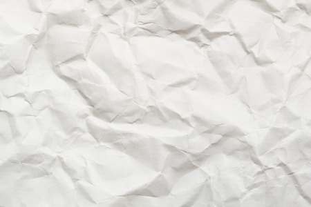 White crumpled paper texture sheet of paper.