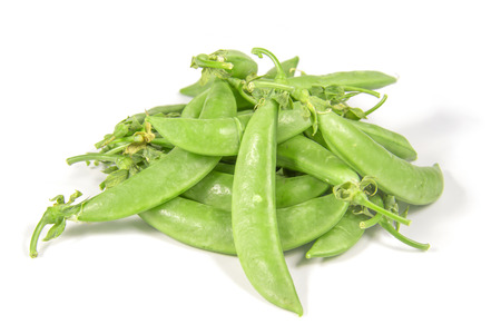 pea pod: green peas Stock Photo
