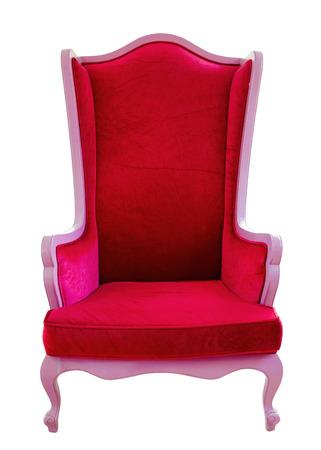 white sofa: Red sofa isolated on white background.