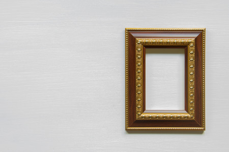 Frame on a wooden floor