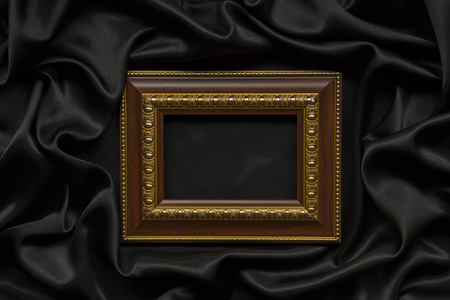 Picture frames on the black cloth