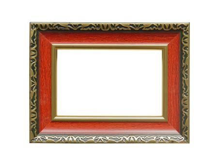 Frame isolated on white background. Stock Photo
