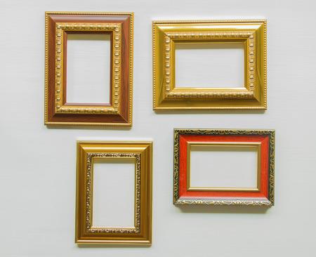 Frame on a wooden floor