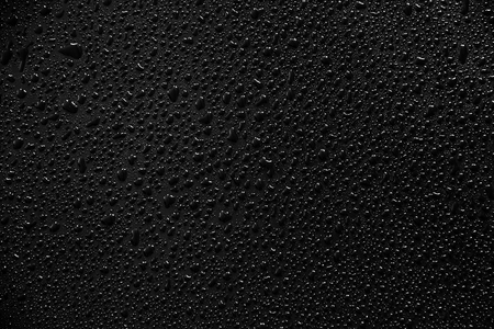 Water droplets on black background and texture. Archivio Fotografico - 119057366