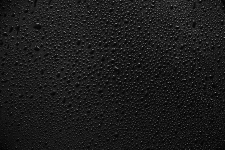 Water droplets on black background and texture. Archivio Fotografico - 119057380