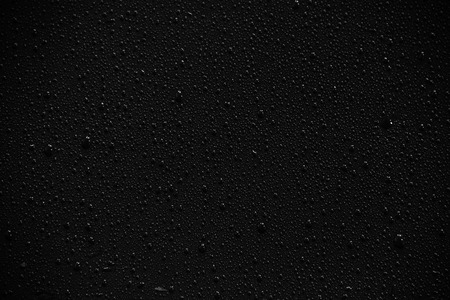 Water droplets on black background and texture. Archivio Fotografico - 119057392