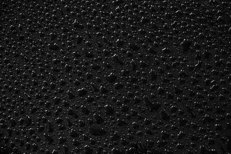 Water droplets on black background and texture. Archivio Fotografico - 119057401