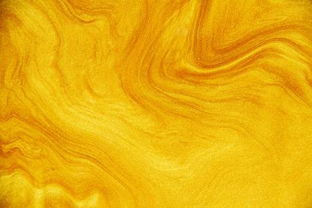 Golden acrylic background texture. Archivio Fotografico - 119057425