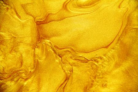 Golden acrylic background texture. Archivio Fotografico - 119057498