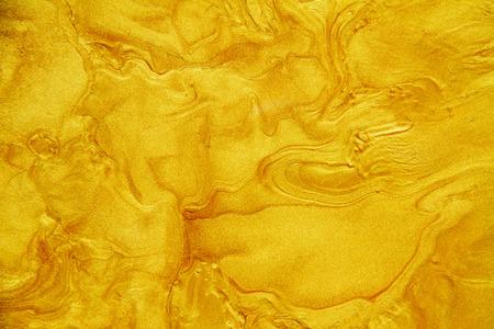 Golden acrylic background texture. Archivio Fotografico - 119057461