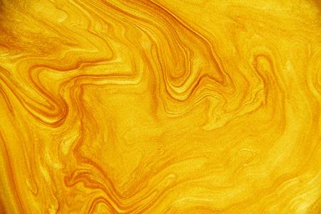 Golden acrylic background texture. Archivio Fotografico - 119057506