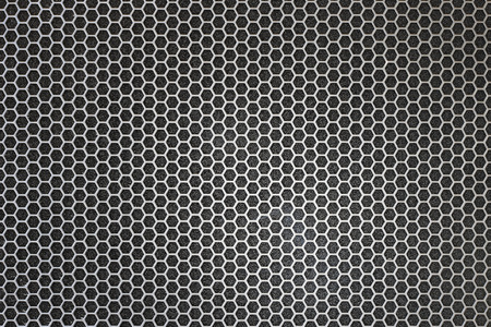 Black iron speaker grid texture. Industrial background. Archivio Fotografico - 119057810
