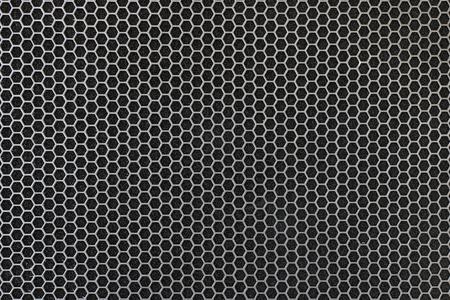 Black iron speaker grid texture. Industrial background. Archivio Fotografico - 119057811
