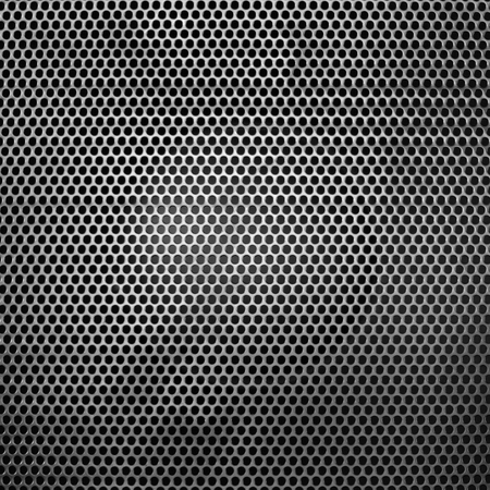 Black iron speaker grid texture. Industrial background. Archivio Fotografico - 119057812