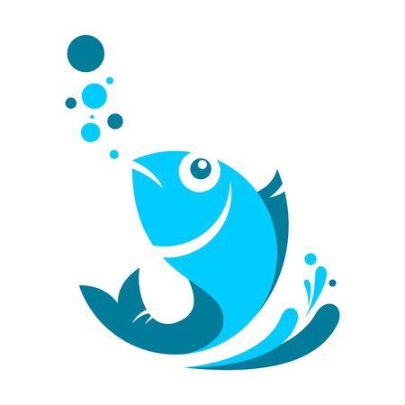abstract fish logo icon icon vector design concept