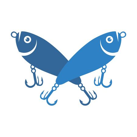 fishing lures logo icon icon vector design concept 스톡 콘텐츠 - 130725908