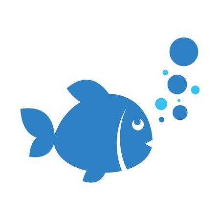 simple fish logo icon icon vector design concept Illustration