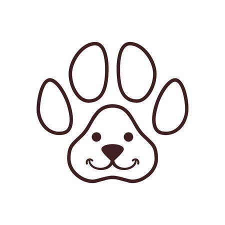 Abstract cute dog pets vector logo icon vector concept design Standard-Bild - 133291350