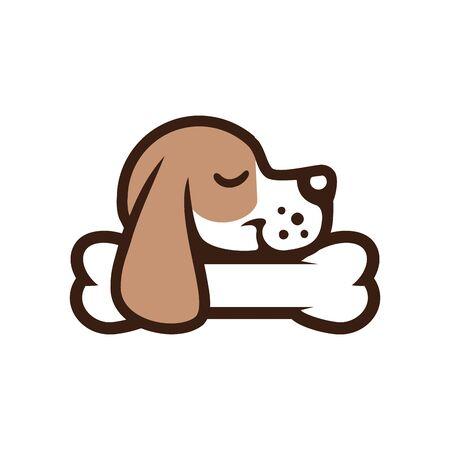 Dog sleep on bone design Standard-Bild - 133291601