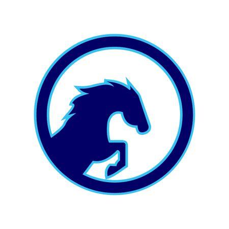 Horse power design on white