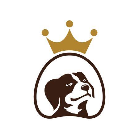 King dog pets design on white Standard-Bild - 133291609