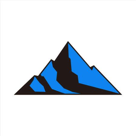 abstract mountain vector icon vector flat concept design