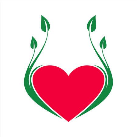 abstract love nature icon vector flat concept design