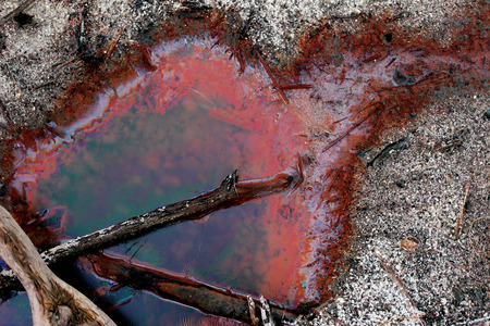 The environmental contamination with chemicals photo